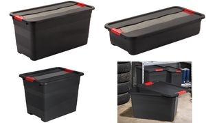 """keeeper Aufbewahrungsbox """"eckhart"""", 83 Liter, graphite/rot"""