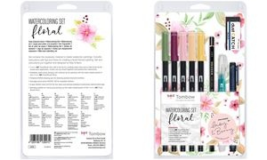 "Tombow Watercoloring-Set ""Floral"", 11-teilig"