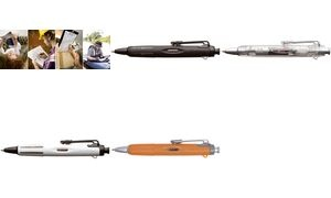 "Tombow Druckkugelschreiber ""AirPress Pen"", orange/silber"