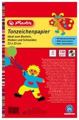 herlitz Tonpapierblock, 230 x 330 mm, Inhalt: 20 Blatt