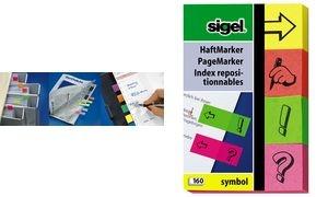 sigel Haftmarker Symbol, 50 x 20 mm, 160 Blatt