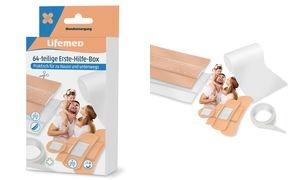 Lifemed Erste-Hilfe-Pflaster-Box, 64-teilig