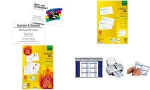 sigel PC-Visitenkarten, 85 x 55 mm, 250 g/qm, hochweiß