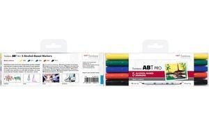 Tombow Marker ABT PRO, alkoholbasiert, 5er Set Basic Colors