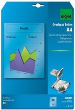 sigel Inkjet-Folie, DIN A4, transparent, klar, 100 my
