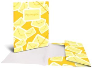 HERMA Postmappe mit Gummizug, DIN A4, PP, gelb