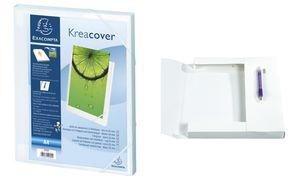 EXACOMPTA Sammelbox Kreacover, A4, PP, 25 mm, weiß