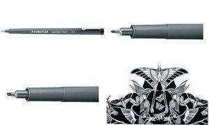 STAEDTLER Pigmentliner, schwarz, Strichstärke: 0,8 mm