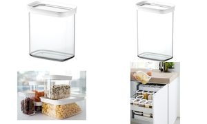 emsa Trockenvorratsdose OPTIMA, 2,2 Liter, transparent/weiß