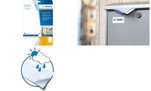 HERMA Inkjet Folien-Etiketten, 210 x 297 mm, wetterfest