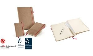 "transotype Notizbuch ""senseBook RED RUBBER"", Small, blanko"