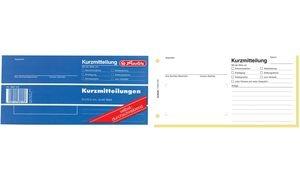 """herlitz Formularbuch """"Kurzmitteilung"""", 1/3 A4 quer"""