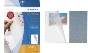 HERMA Fotokarton, 230 x 297 mm, weiß, Inhalt: 25 Blatt