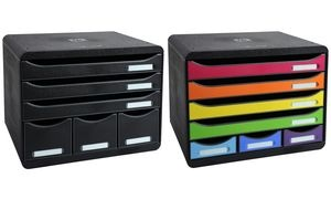 EXACOMPTA Schubladenbox STORE-BOX MAXI, 6 Schübe, schwarz