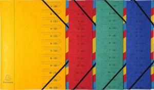 EXACOMPTA Ordnungsmappe, DIN A4, Karton, 7 Fächer, gelb