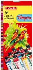 herlitz Gouachefarbe, farbig sortiert, 10er Karton-Etui