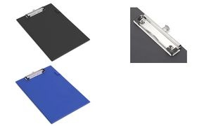 RAPESCO Klemmbrett Standard, A4, PVC-Folienüberzug, schwarz