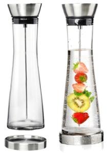 Flirt by R & B Glaskaraffe LENO, mit Fruchtspieß, 1,3 Liter