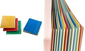 extendos Ordnungsmappe 223, aus Karton, 7 Fächer, blau