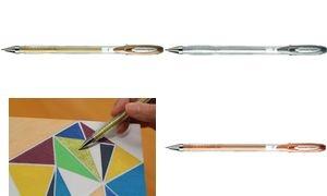 uni-ball Gelschreiber SIGNO Metall (UM-120 NM), silber