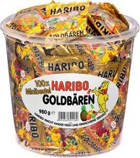 HARIBO Fruchtgummi Goldbären Minis, in Runddose