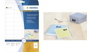 HERMA Folien-Etiketten SPECIAL, 52,5 x 29,7 mm, transparent
