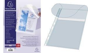 EXACOMPTA Prospekthülle mit Verschlusslasche, DIN A4, PP