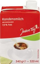 Jeden Tag Kondensmilch, 7,5 % Fett, 340 g = 320 ml