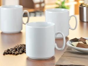 """Esmeyer Kaffeebecher """"Diane"""", 6er Set, Inhalt: 280 ml, weiß"""
