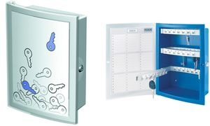 HAN Schlüsselkasten INDEX, für 63 Schlüssel, blau