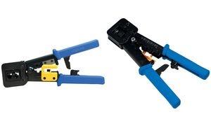 LogiLink Crimpzange mit Abschneidevorrichtung, blau/gelb