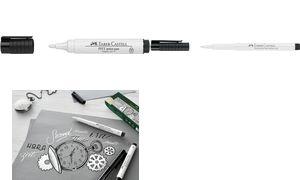 FABER-CASTELL Tuschestift PITT artist pen, weiß