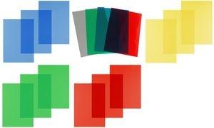 pavo Einbanddeckel, DIN A4, PVC, rot transparent, 0,20 mm