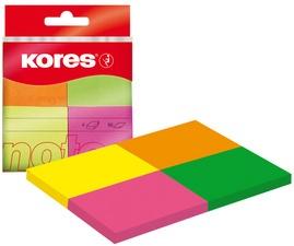 "Kores Haftnotizen ""Multicolour"", 40 x 50 mm, Neonfarben"
