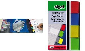 sigel Haftmarker Transparent, 50 x 20 mm, 160 Blatt