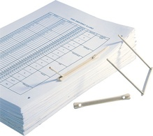 FAST Archiv-Abheftbügel, Fassungsvermögen: 90 mm, beige
