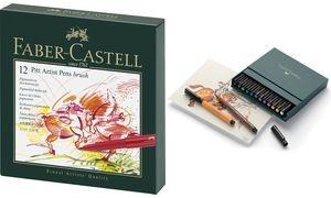 FABER-CASTELL Tuschestift PITT artist pen, 24er Atelierbox