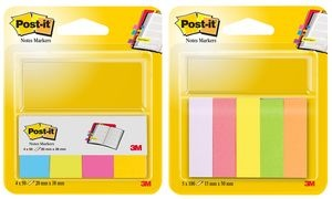 Post-it Pagemarker aus Papier, 15 x 50 mm, Neonfarben