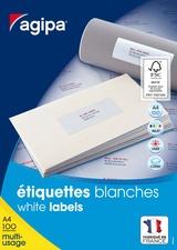 agipa Universal-Etiketten, 70 x 35 mm, weiß, rechteckig