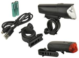 FISCHER Fahrrad-LED-Beleuchtungs-Set 40/20/10 Lux