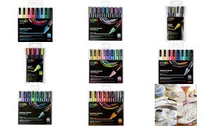 uni-ball Pigmentmarker POSCA PC-5M, 8er Box, pastellfarben