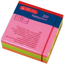 herlitz Haftnotiz-Würfel, 75 x 75 mm, Neonfarben