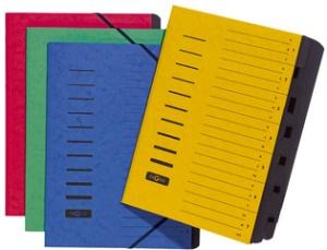 PAGNA Ordnungsmappe, DIN A4, aus Karton, 7 Fächer, gelb