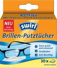 swirl Brillen-Putztücher, 30er Großpackung