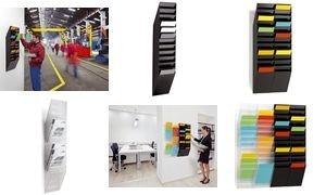 "DURABLE Wand-Prospekthalter-Set ""FLEXIBOXX 12"", A4"