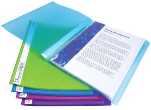 RAPESCO Sichtbuch, DIN A4, PP, 20 Hüllen, farbig sortiert