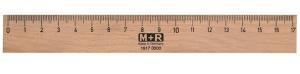 M+R Holzlineal, 170 mm, Buche, mit Metalleinlage
