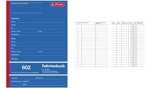 "herlitz Formularbuch ""Fahrtenbuch 601"", A6 quer, 40 Blatt"