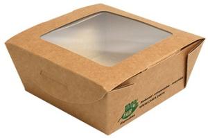 """PAPSTAR Feinkostbox """"pure"""", eckig, 650 ml, braun"""