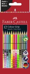 FABER-CASTELL Dreikant-Buntstifte Colour GRIP, 12er Etui